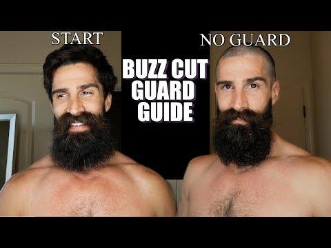 BUZZ CUT CLIPPER GUARD GUIDE (EXAMPLES)