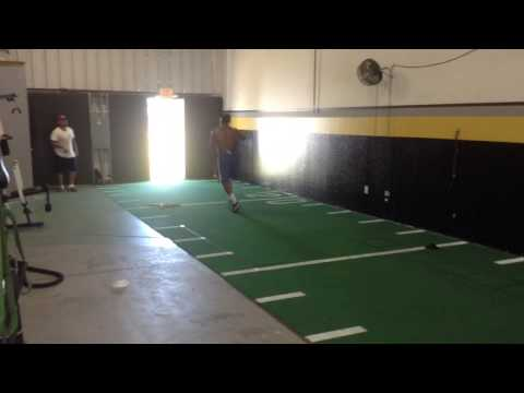 Cross training college football player