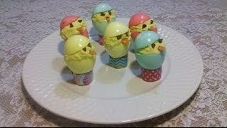 Deviled Easter Egg Chicks - The Hillbilly Kitchen