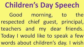 Children's day speech in English | 14th November speech | Childrens day | Smile Please World