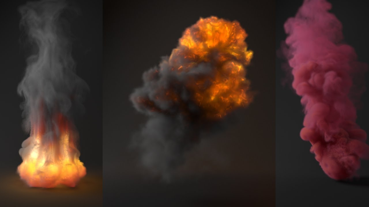 Tutorial No 65 : Rendering realistic Explosion and Smoke in V-Ray for 3ds  Max (Volumetric Grid)