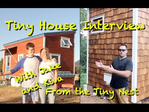 Tiny House Interview with Jake and Kiva from The Tiny Nest!
