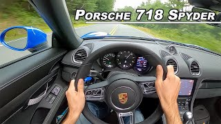 2021 Porsche 718 Spyder - The Topless GT4 You NEED To Drive (POV Binaural Audio)