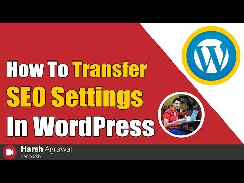 How To Transfer SEO Settings in WordPress - 동영상