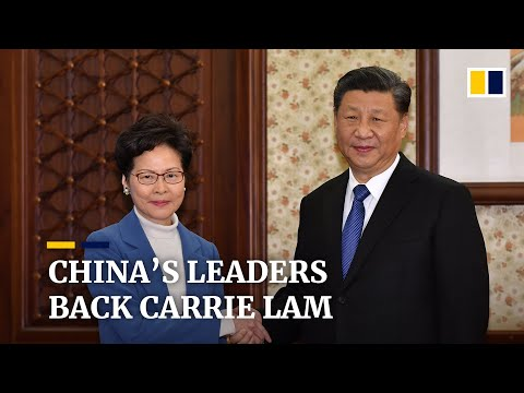 Xi Jinping praises Hong Kong leader Carrie Lam over handling of protest crisis