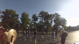 ETBU Tiger Marching Band Marching Rehearsal With A GoPro