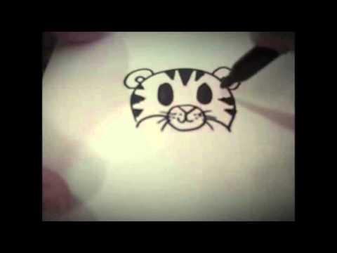 Wie zu zeichnen Karikatur Tiger (Einfach) – Für Kinder