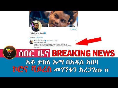 አቶ ታከለ ኡማ በአዲስ አበባ    ኮሮና ቫይረስ መገኘቱን አረጋገጡ ፡፡ Ethiopian Latest News, Breaking News