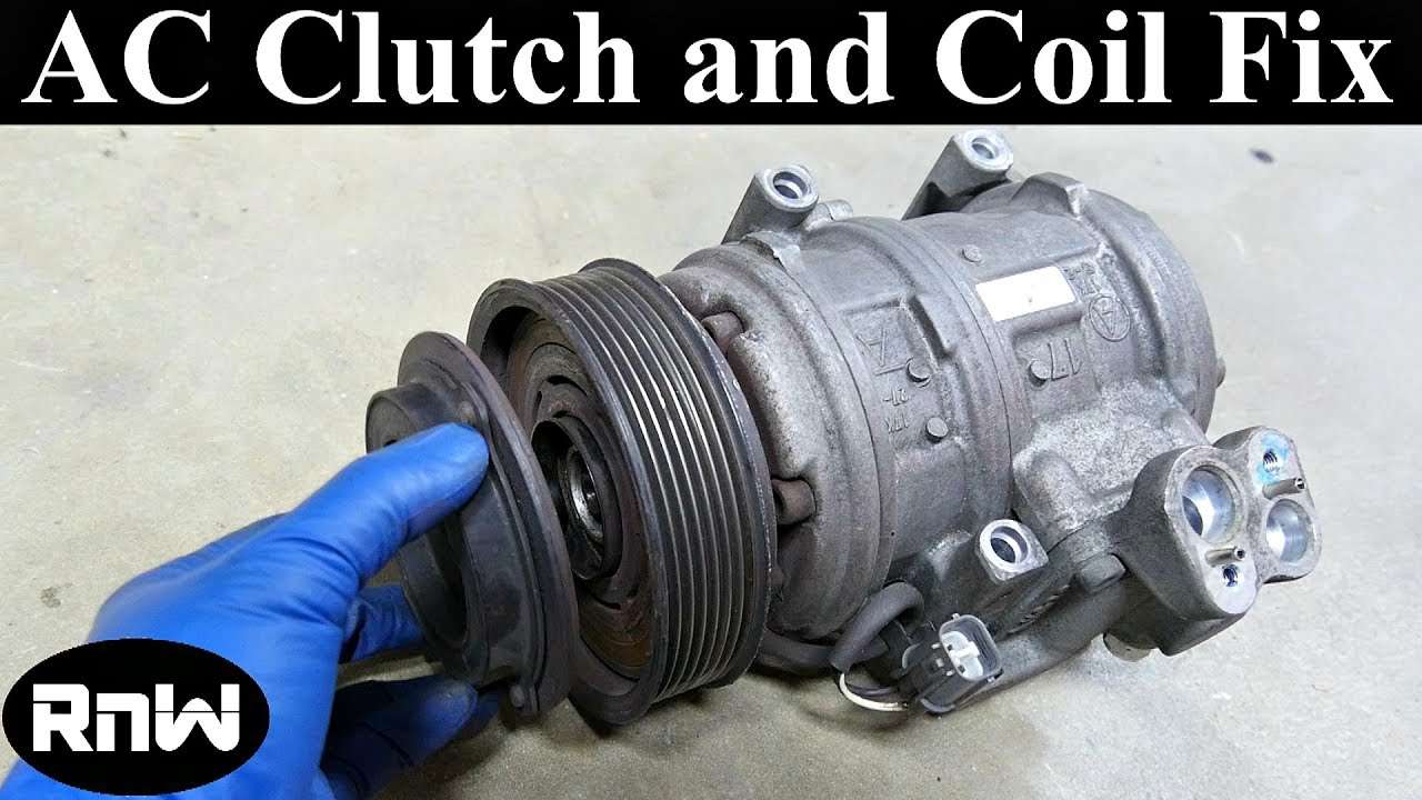 how to remove and replace an ac compressor clutch and bearing long rh youtube com