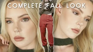 COMPLETE Fall Look Makeup and Outfit // Mallory1712