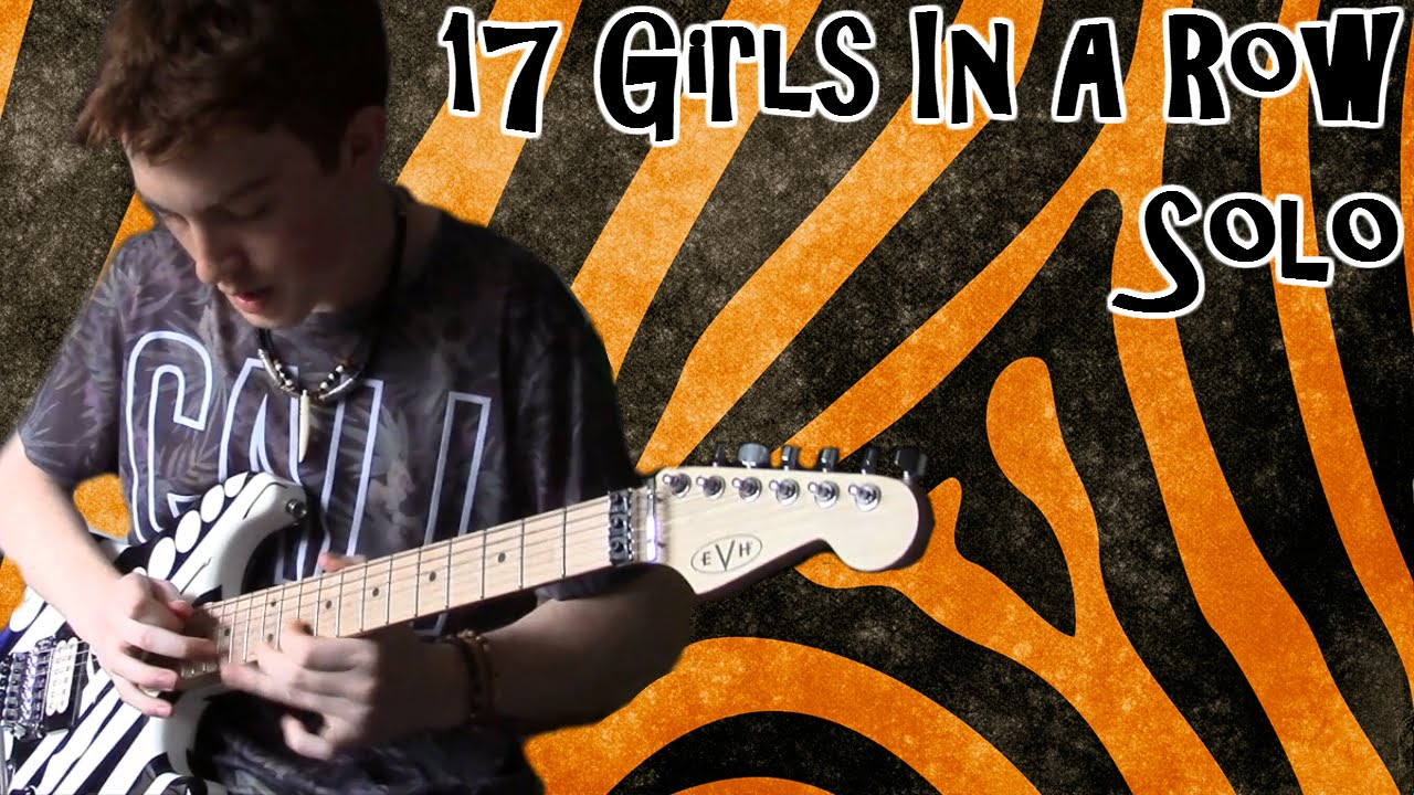 steel panther 17 girls in a row guitar solo cover youtube. Black Bedroom Furniture Sets. Home Design Ideas