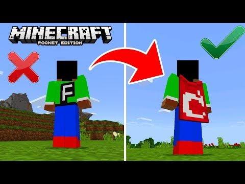 HOW TO GET CUSTOM CAPES in Minecraft Pocket Edition