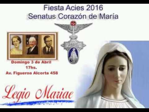 Legión de María fiesta Acies 2016 SENATUS Corazón de María
