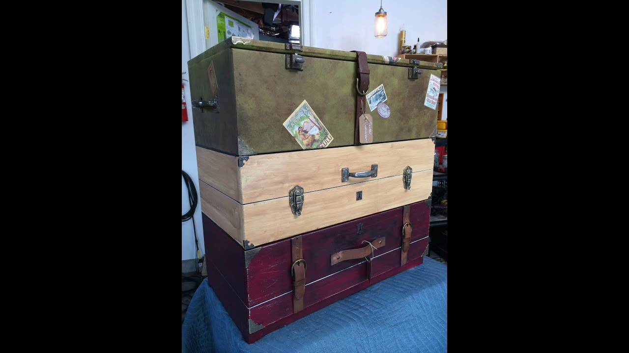 Vintage Luggage Dresser Drawers - DIY With Tanya Memme (As