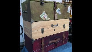 Vintage Luggage Dresser Drawers - Diy With Tanya Memme (as Seen On Home & Family)