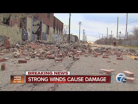 Strong winds cause damage across metro Detroit