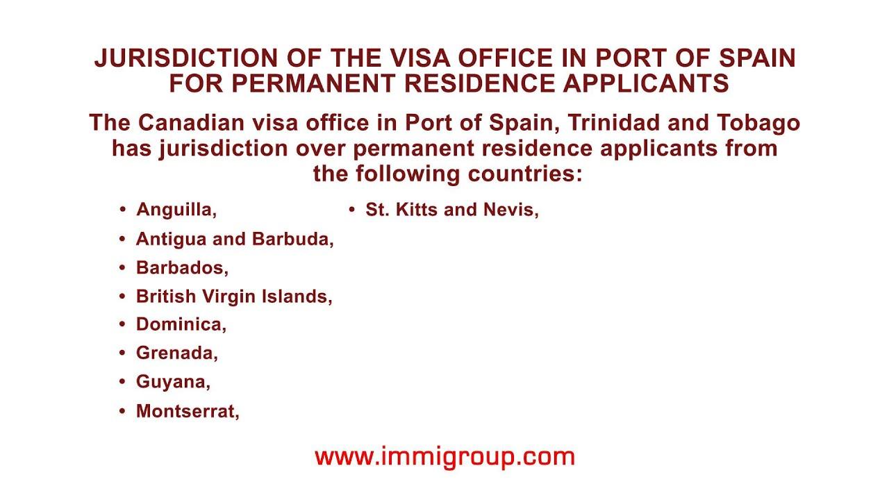 canadian visa application trinidad