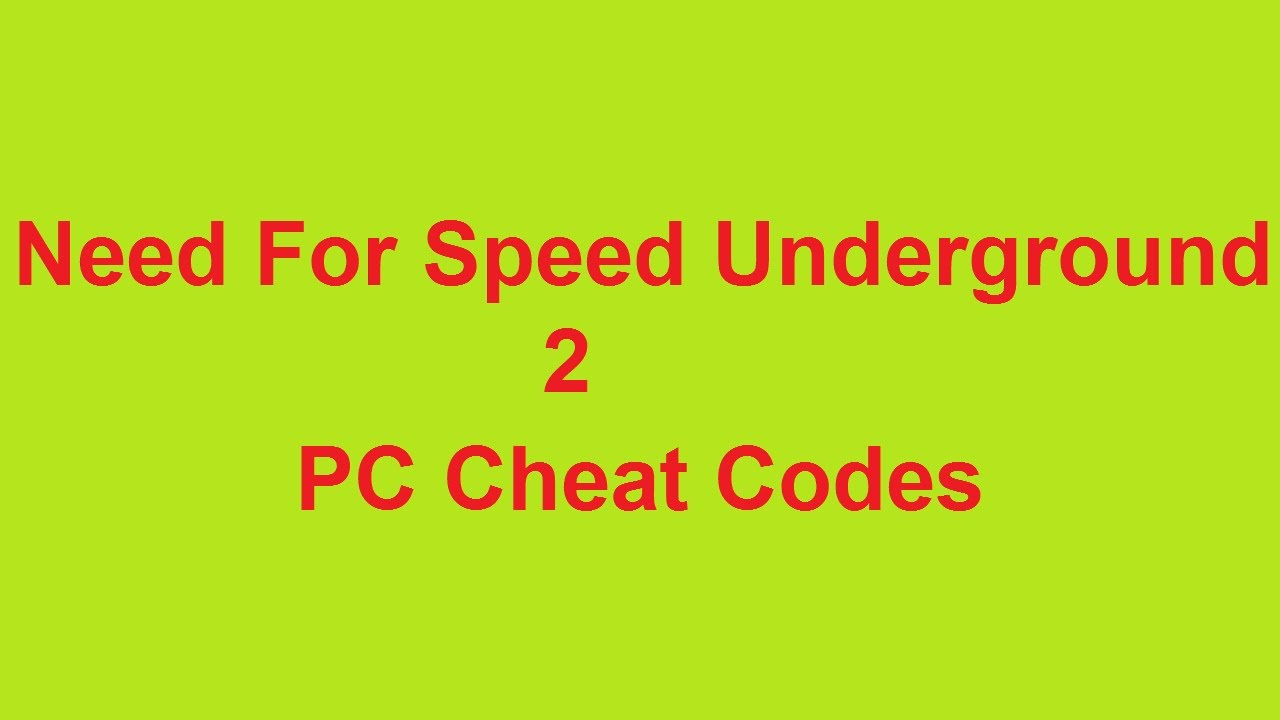 cara hack need for speed underground 2 pc