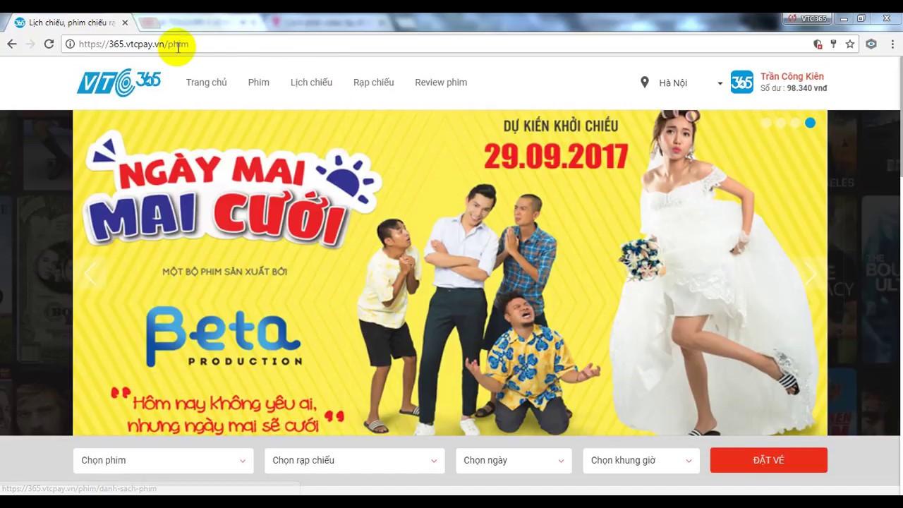 [VTC Pay] Hướng dẫn mua vé xem phim trên website 365.vtcpay.vn/phim
