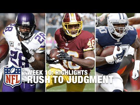 Rush To Judgment (Week 10) | Adrian Peterson, Alfred Morris & Darren McFadden! | NFL