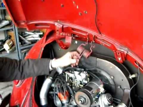 Putting deck lid spring in a 1967 VW