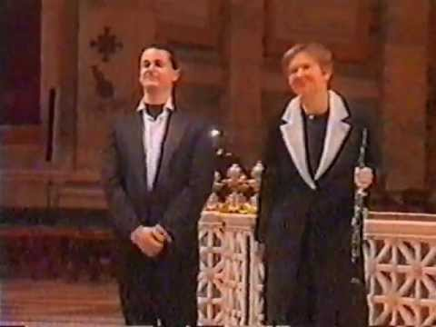 Marco Lo Muscio & Mary Cotton Savini Play Bach in St. Paul Cathedral in Rome (Giubileo 2000)