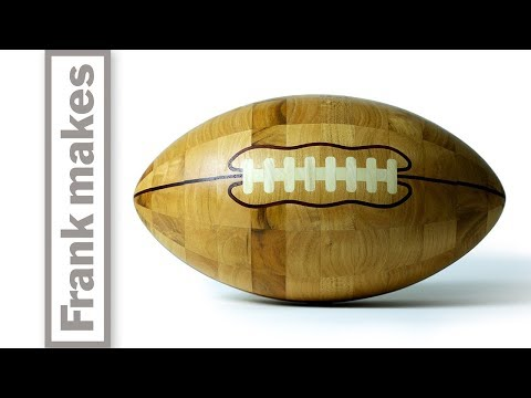 Wood Turning a Football