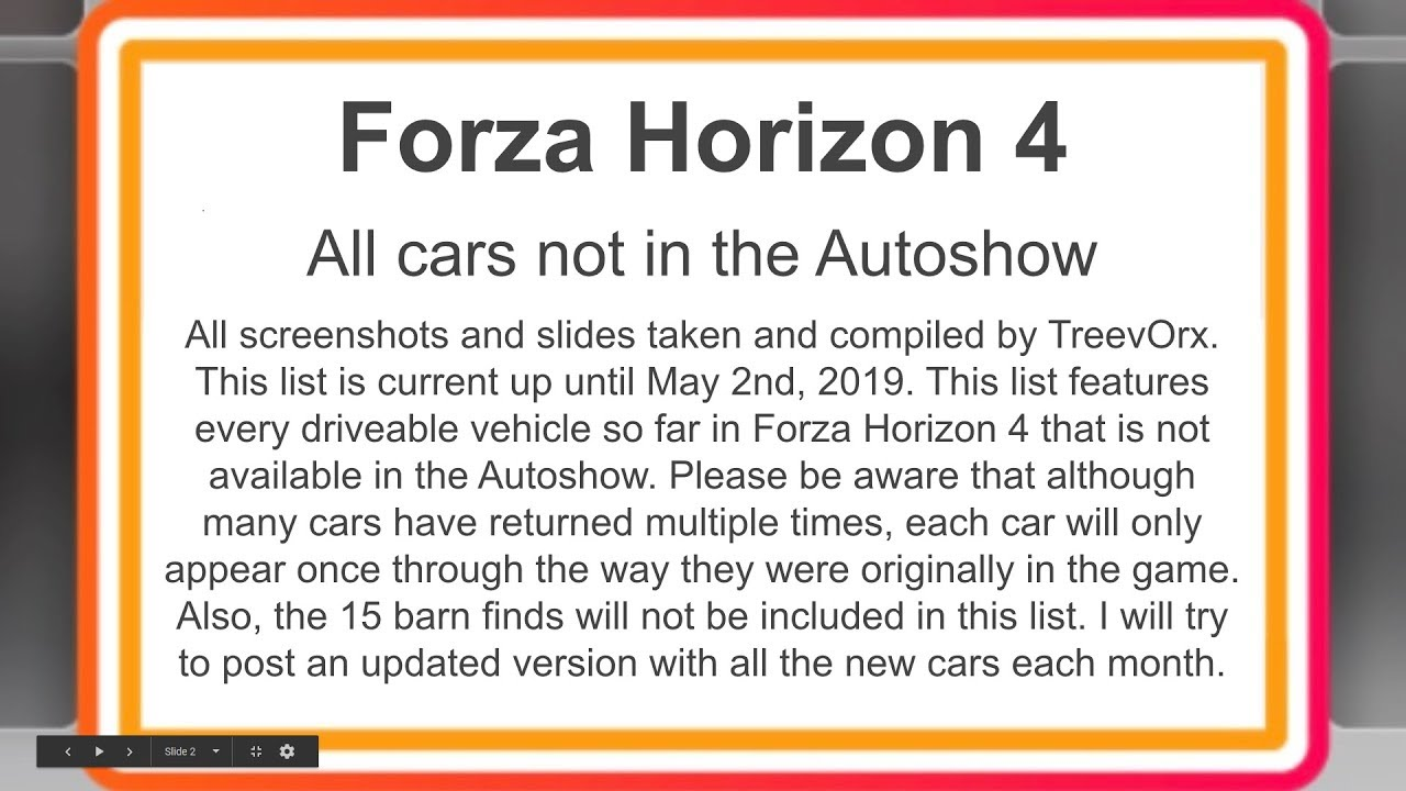 All 150 Cars Not In The Autoshow - Forza Horizon 4