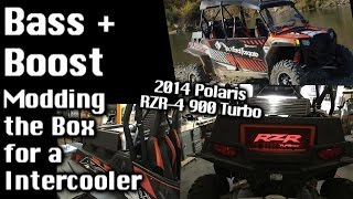 Polaris RZR4 900 Turbo - BASS + BOOST - Modding the woofer box for Intercooler