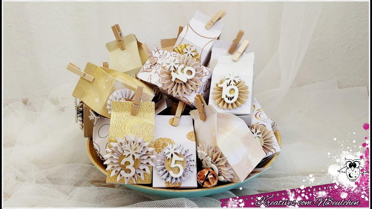 Kleiner Weihnachtskalender.Adventskalender 24 Kleine Milchkartons