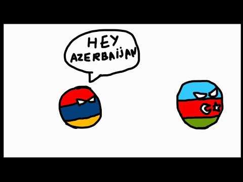 Countryballs Animation #1 Armenia Vs Azerbaijan