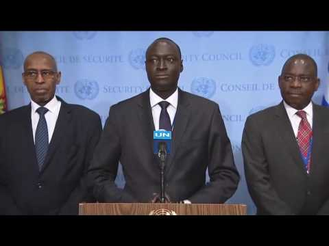 Issa Konfourou (Mali) peace and security in Africa - Media Stakeout (21 June 2017)
