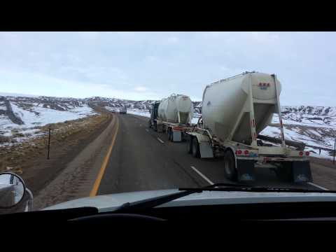 Winter Semi Truck Driving Show  The Truck Driver Guy Talk in Wyoming