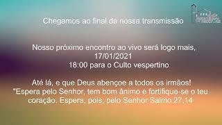 Live IPH 17/01/2021. Culto matutino