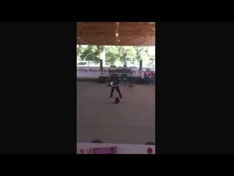 CJ dancing at Arkansas valley fair