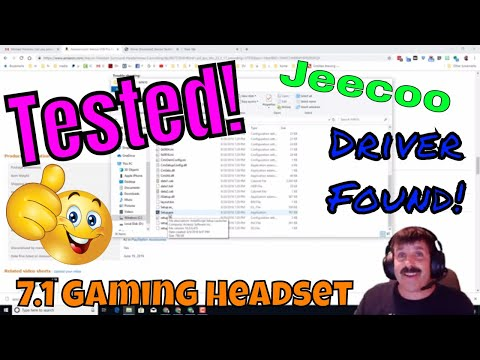 Tested! Driver FOUND - Jeecoo USB Pro Gaming Headset For PC- 7.1