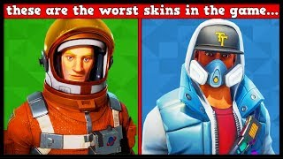WORST SKIN BY LETTER (A-Z) | Fortnite Battle Royale!