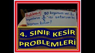 4  SINIF KESİR PROBLEMLERİ VE ÇÖZÜMLERİ
