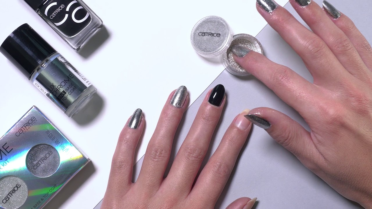 How to: Chrome Powder Nails - YouTube