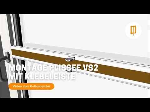 Plissee VS2 Montage Zum Kleben Mit Klebeleiste Auf Der Glasscheibe Video Von Rollomeister
