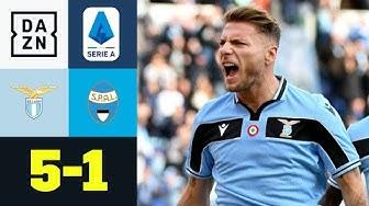 Ciro-Konto ausgebaut! Immobile schießt Schlusslicht ab: Lazio Rom - SPAL 5:1 | Serie A | DAZN