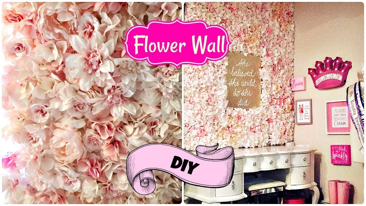 How To Make A Flower Wall On A Budget 🌺 2018 Flower Tile