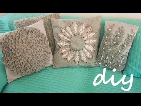 Подушки декоративные на диван своими руками