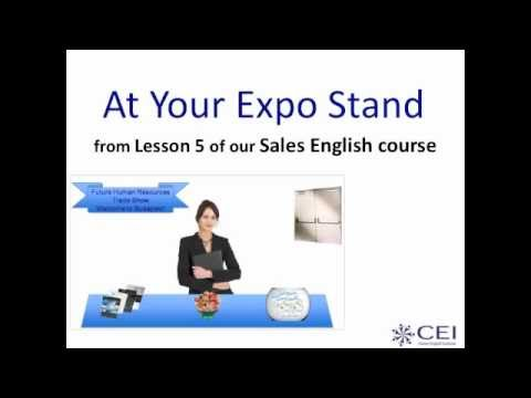 Learn English - Business Dialogues - At Your Expo Stand