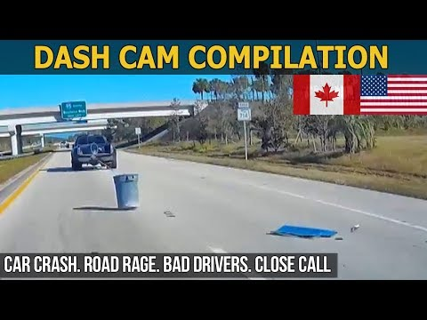 Dash Cam Compilation (USA, Canada) Car Crashes in America 2017 - 2018 # 63
