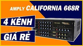 Bán Amply Karaoke Nhập Khẩu Hàn Quốc Hay Giá Rẻ - Amply California 668R 4 Kênh [Hoang Audio]