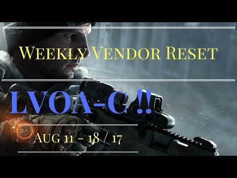 The Division - Weekly Vendor Reset Aug 11-18/17