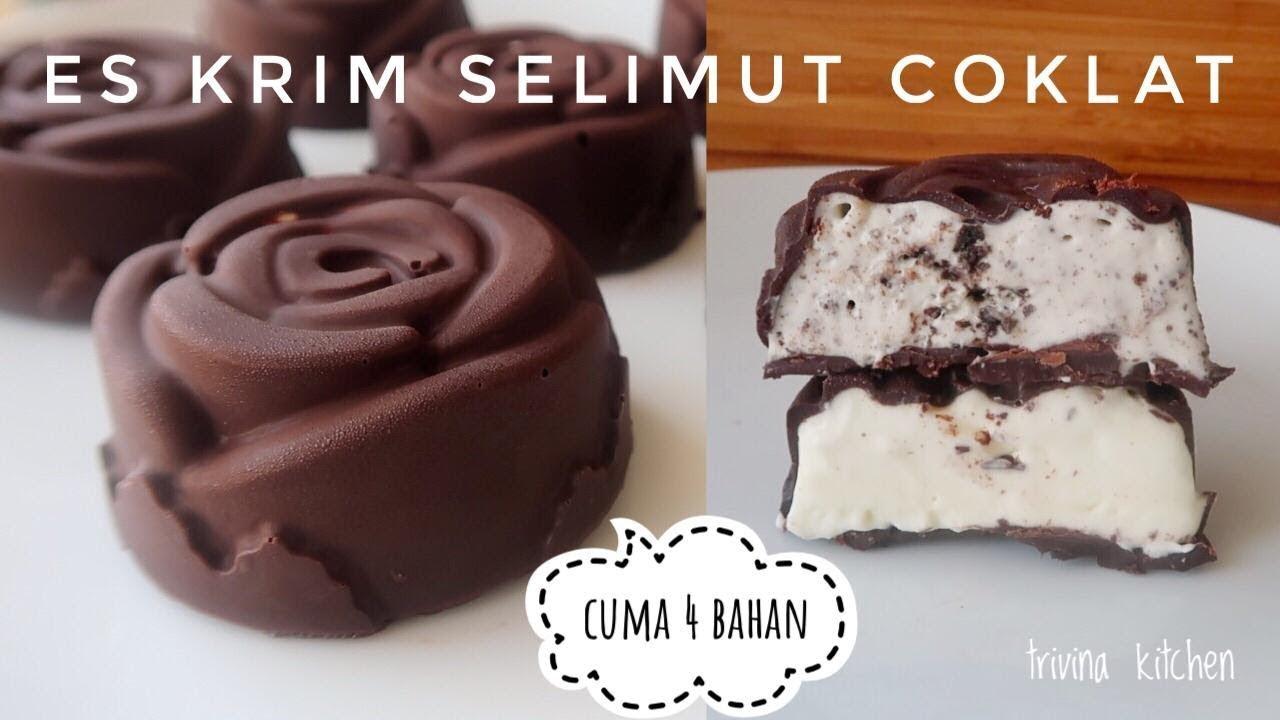 Es Krim Vanila Selimut Coklat Chocolate Covered Vanilla Ice Cream Youtube