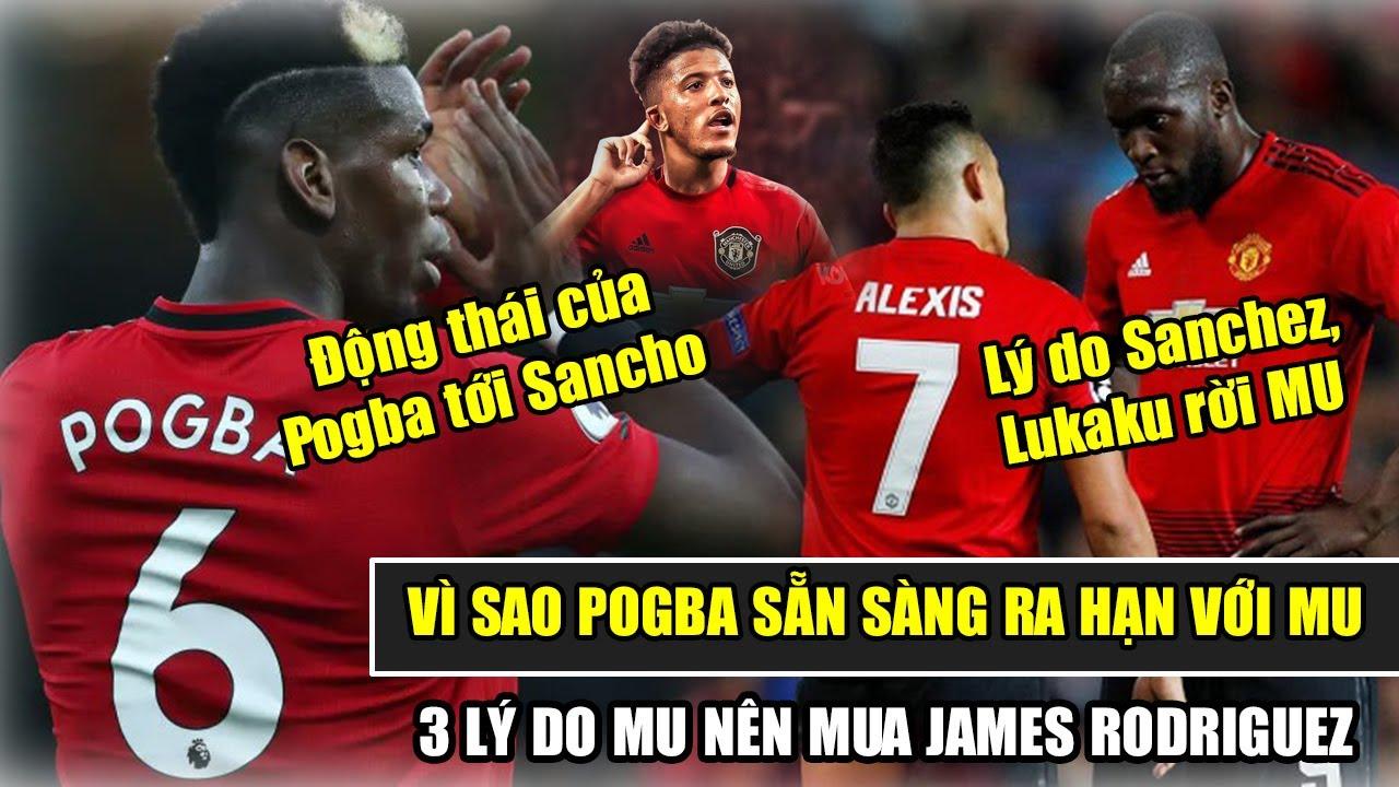 🔥TIN BÓNG ĐÁ MU: Lý do Sanchez, Lukaku rời Old Trafford, Động thái của Pogba tới Sancho.