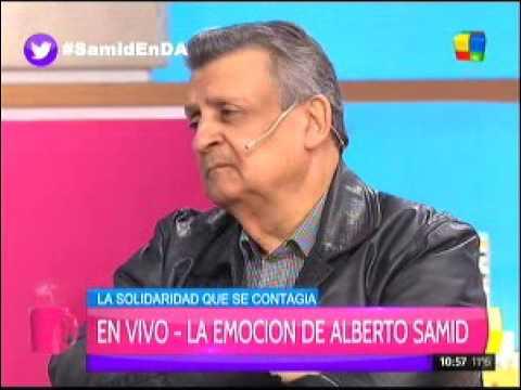 El lado más sensible del duro Alberto Samid